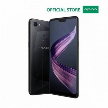 OPPO F7 6GB/128GB Black Diamond - 25 MP Ai Camera (Garansi Resmi Oppo Indonesia)
