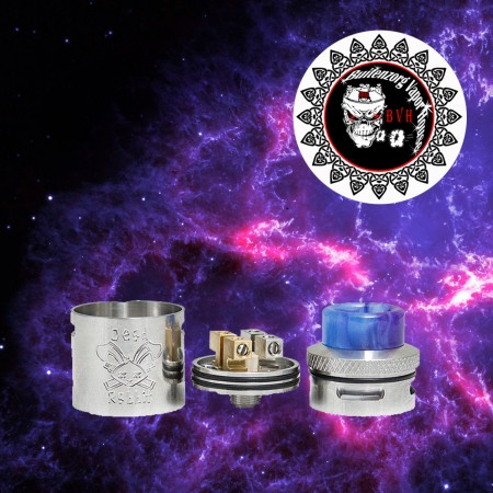 Atomizer DEAD RABBIT (RDA ukuran 24mm Silver SQ Clone)