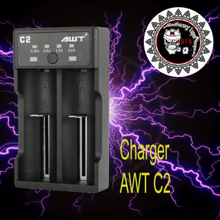 High Quality AWT 18650 battery charger 2A fast 2 bay C2 charger