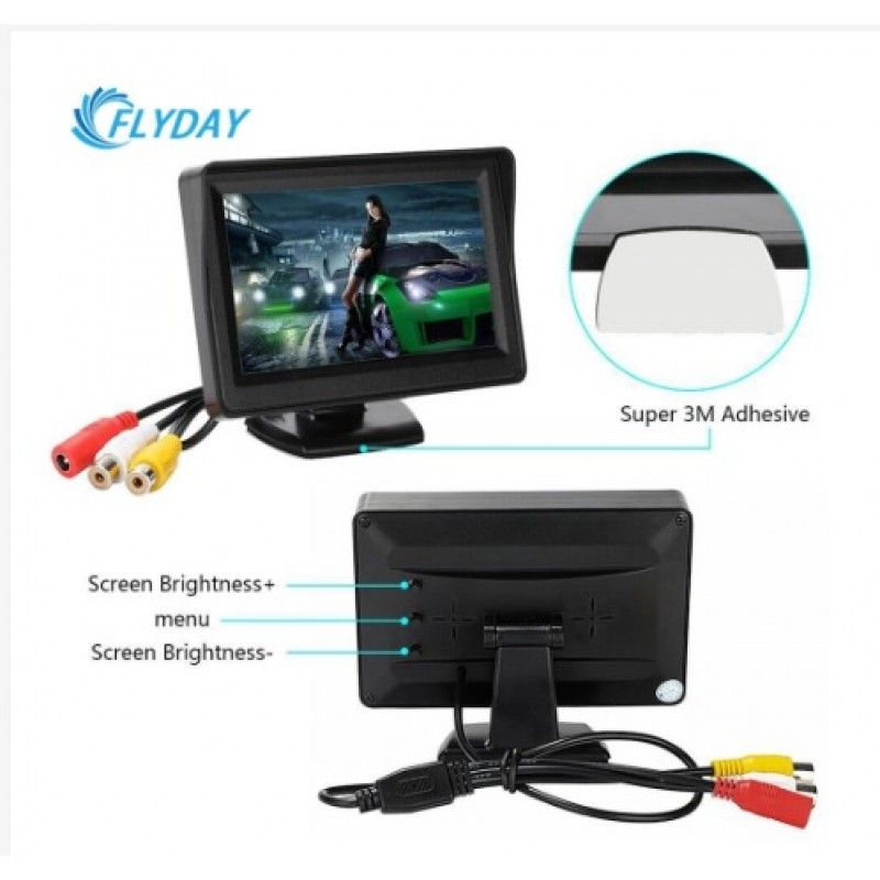 Layar Monitor LCD 4.3 Inch DVD VCR Player