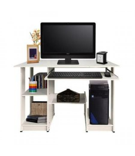 Best Cooldesk Meja Komputer Meja belajar Multifungsi uk 90x43 -KayuOak - Putih (cathy)