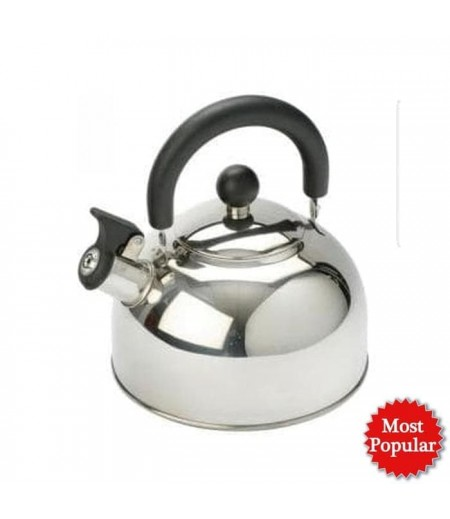 TEKO BUNYI 2 LITER/TEKO PEMANAS AIR / WHISTLING KETTLE FULL STAINLESS (Cathy)