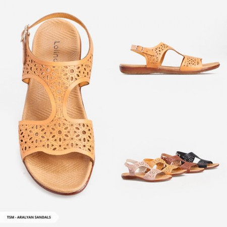 Aralyan Perforated Strappy Sandals