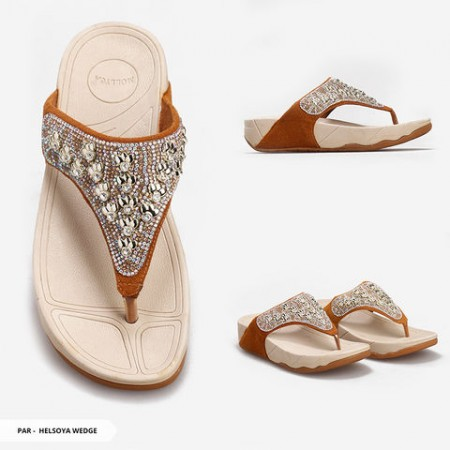 Helsoya Diamond Strappy Wedge