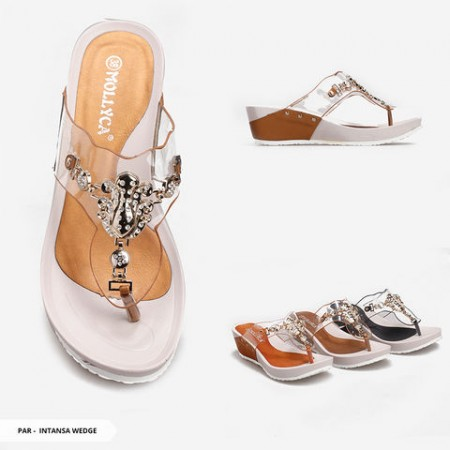 Intansa Transparent Strappy Wedge