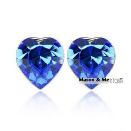 earrings crystal elements a soft spot blue general