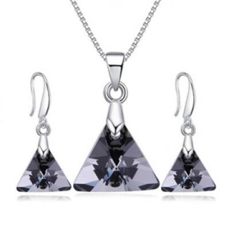 forever21 triangle jewelry set
