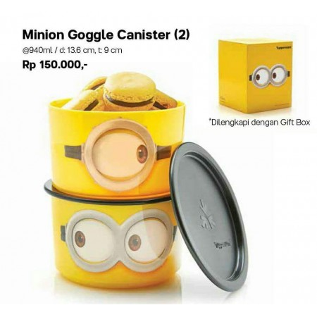 Tupperware MINION GOOGLE CANISTER (2)