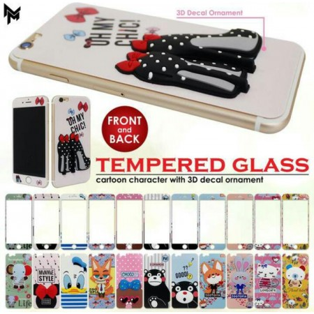 TGD1 - Tempered Glass Disney 3D Timbul Iphone 6 BUY 1 GET 1
